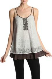 A'reve Contrast Lace Tank - Front cropped