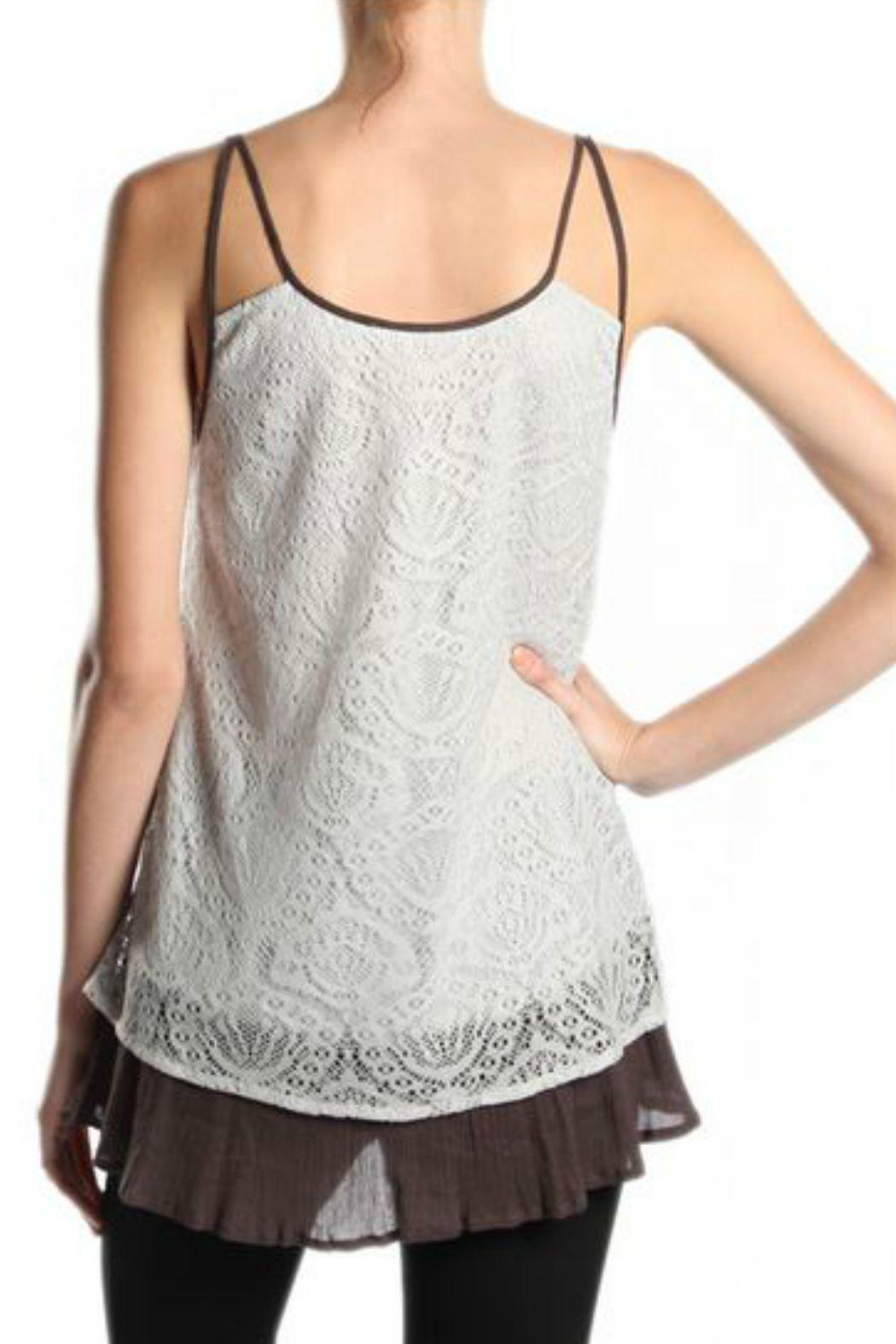 A'reve Contrast Lace Tank - Front Full Image