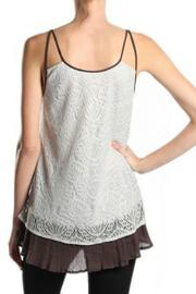 A'reve Contrast Lace Tank - Front full body