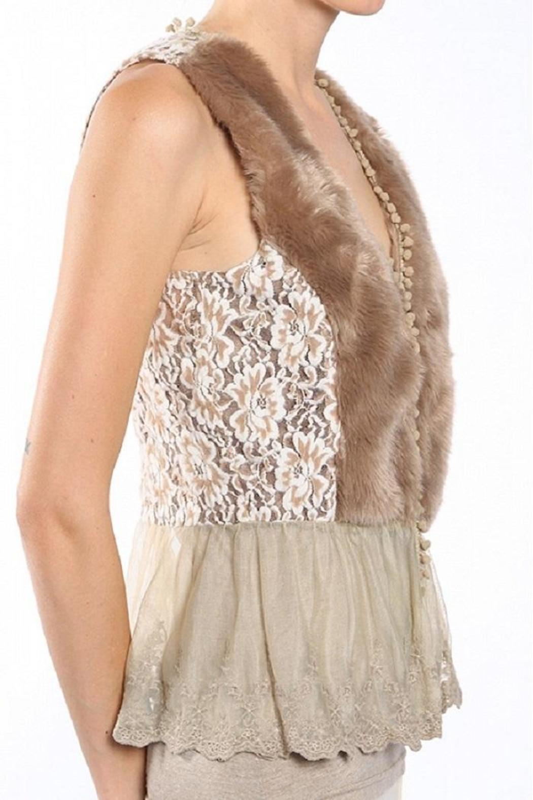 A'reve Fur Vest - Side Cropped Image