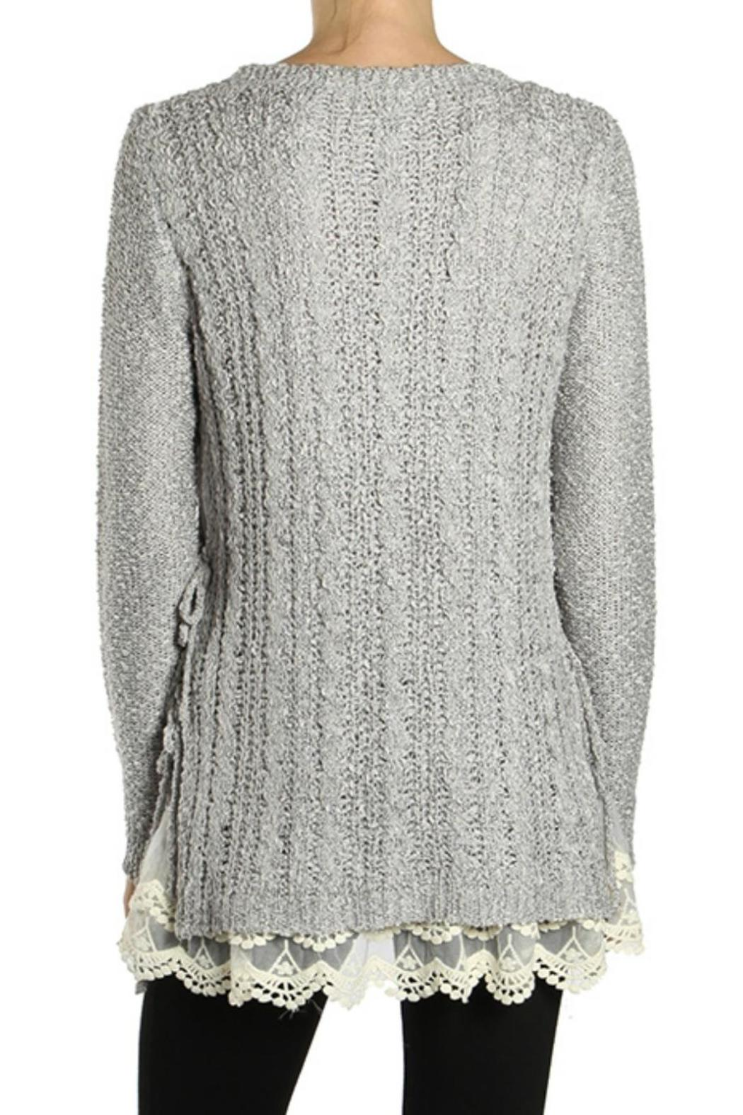 A'reve Grey Lace Sweater from Michigan by Trends & Traditions ...