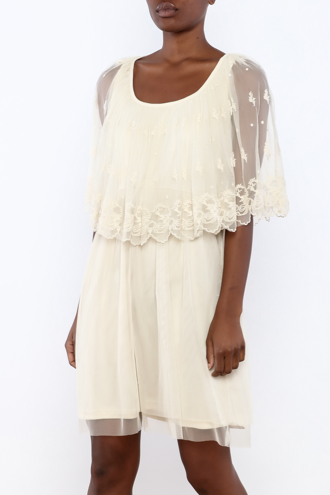 A'reve Ivory Capel Lace Dress - Front Cropped Image