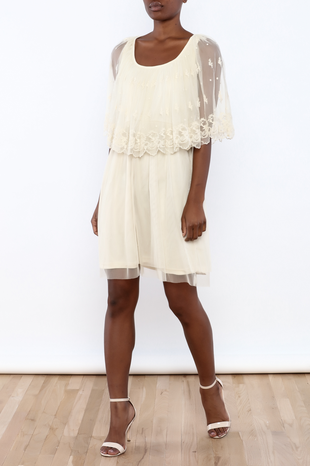 A'reve Ivory Capel Lace Dress - Front Full Image