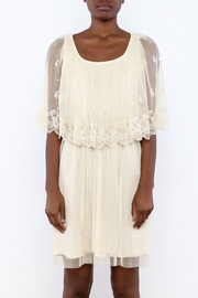 A'reve Ivory Capel Lace Dress - Side cropped