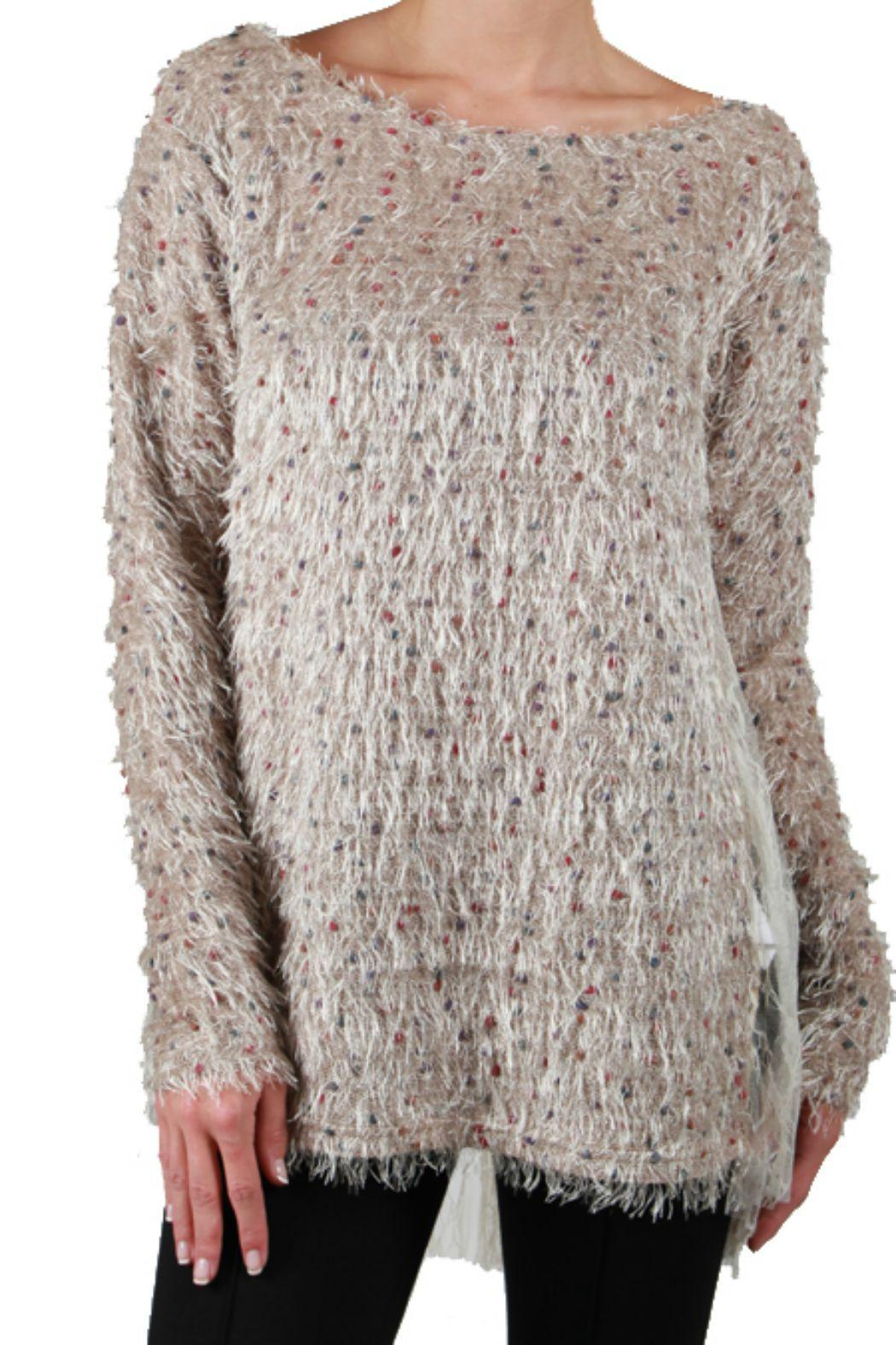 A'reve Lace Back Sweater - Main Image