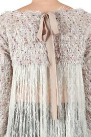 A'reve Lace Back Sweater - Back cropped