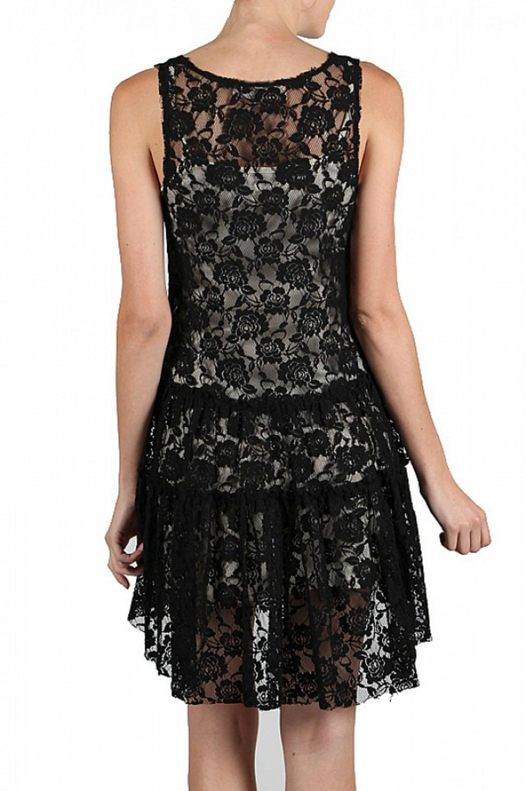 A'reve Lace Embroidered Dress - Front Full Image