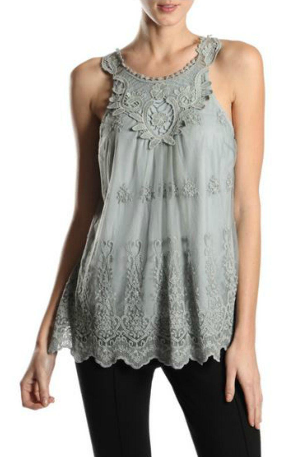 A'reve Lace Sleeveless Top - Main Image
