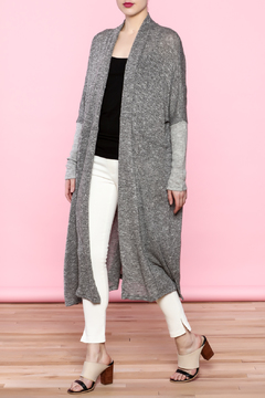 Shoptiques Product: Long Gray Cardigan
