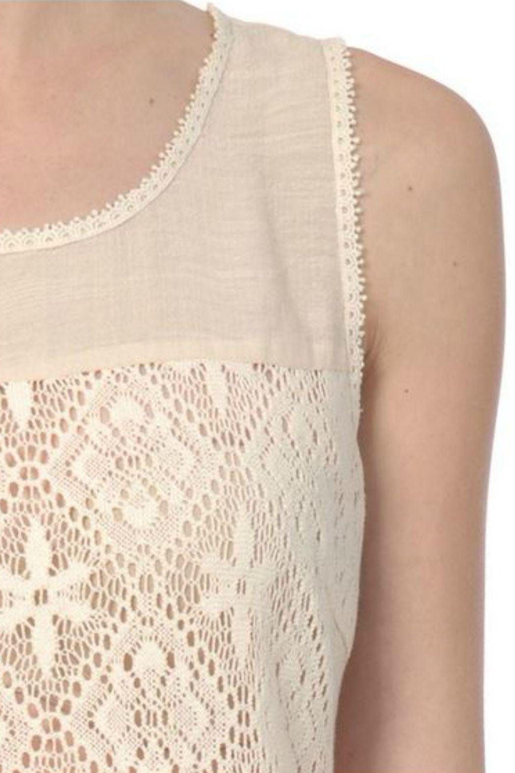 A'reve Sleeveless Lace Top - Side Cropped Image