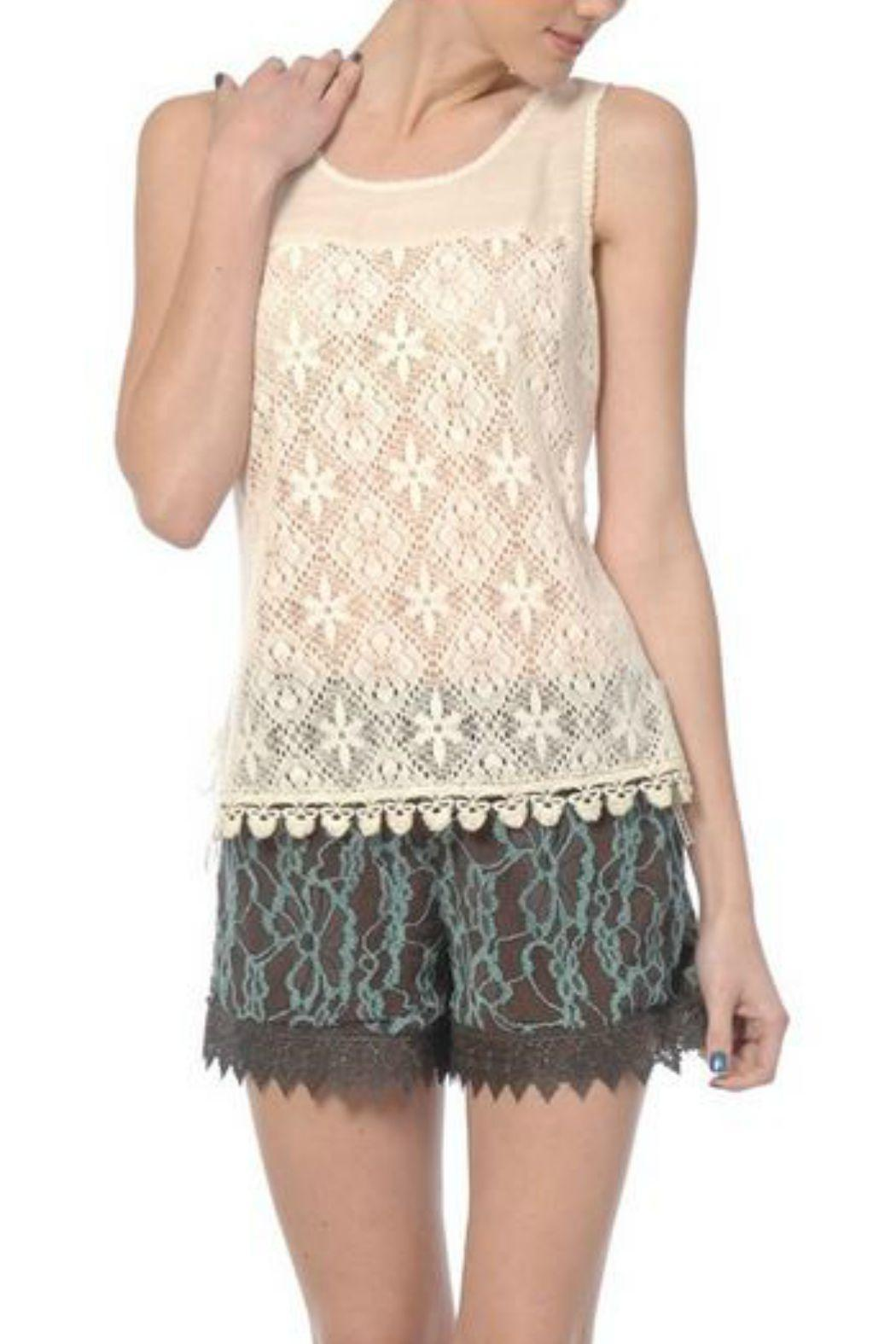 A'reve Sleeveless Lace Top - Main Image