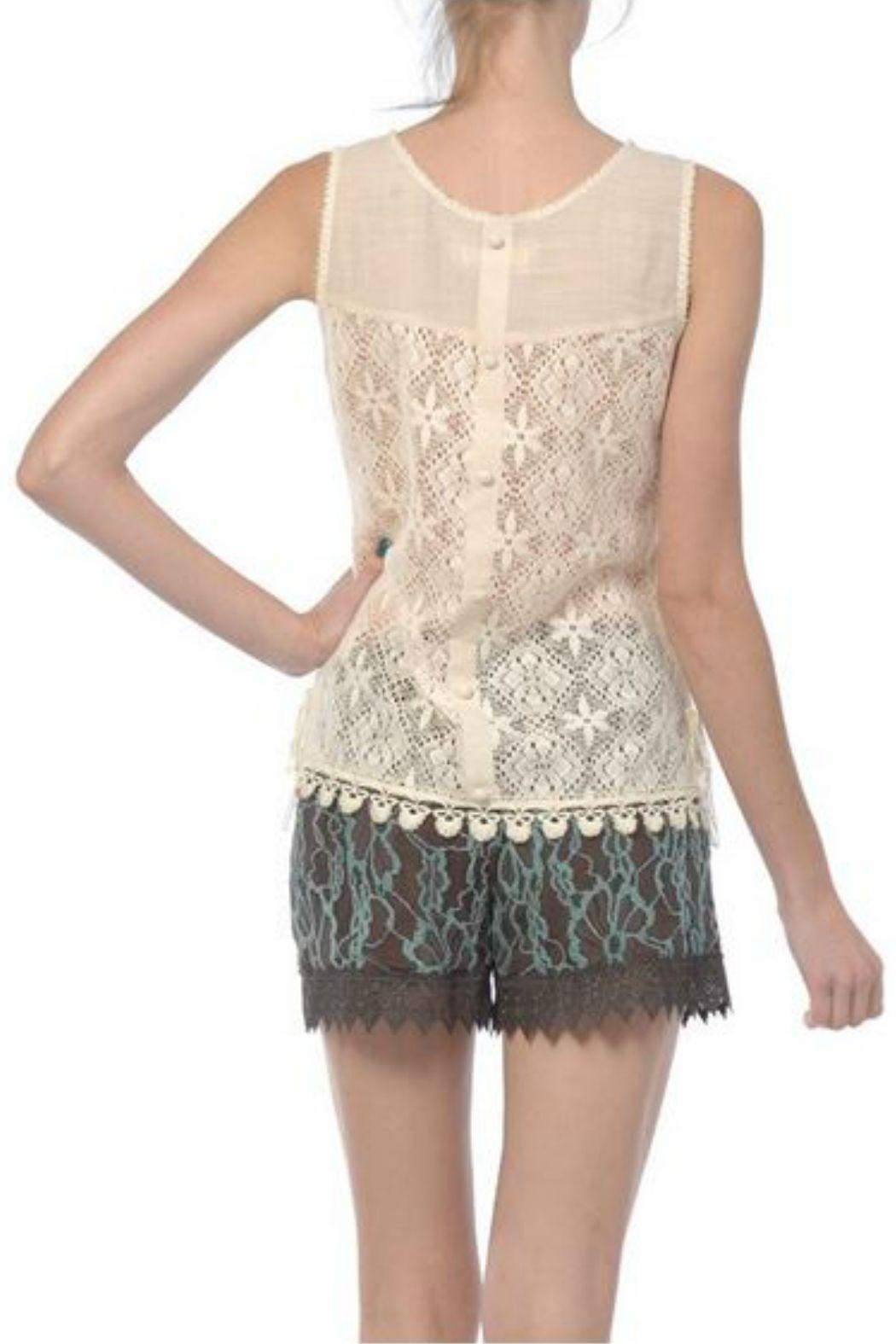 A'reve Sleeveless Lace Top - Front Full Image