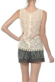 A'reve Sleeveless Lace Top - Front full body