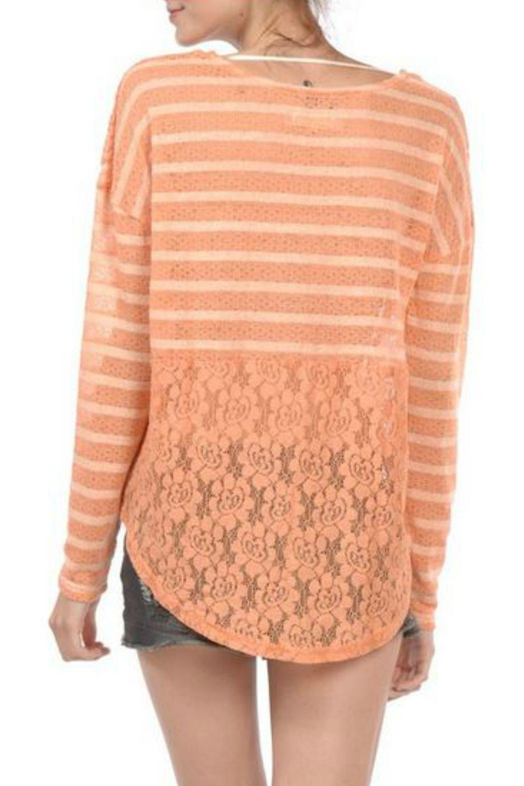 A'reve Striped Longsleeve Lace - Front Full Image