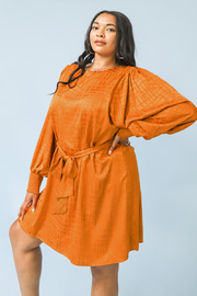 Flying Tomato A Rust textured satin beauty Plus Dress - Product Mini Image