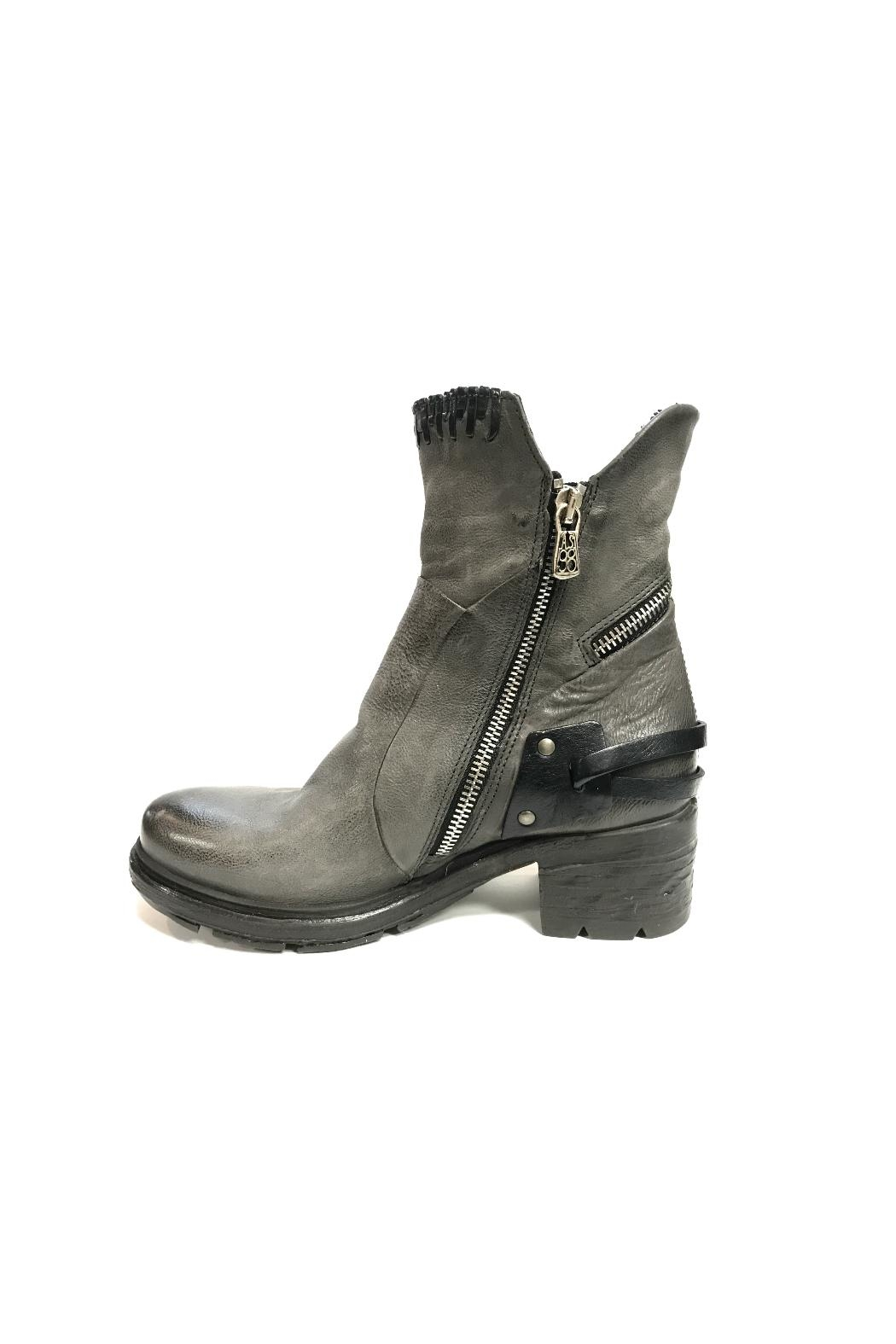 A.S.98 Grey Leather Boot - Main Image