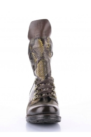 A.S. 98 Snakeskin Leather Boot - Product Mini Image