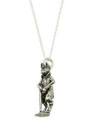 A Silver Lining Gentleman Rabbit Necklace - Front full body