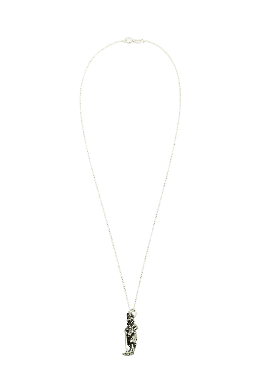 A Silver Lining Gentleman Rabbit Necklace - Main Image