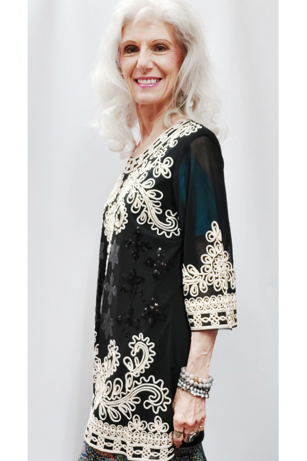 Step in Style A Stylish Ethnic Beauty of a Tunic - Front Cropped Image