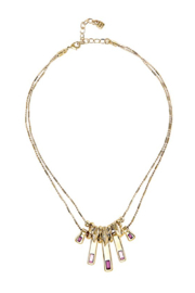 Uno de 50 A Tickle With a Feather Necklace, Gold/Red - Product Mini Image