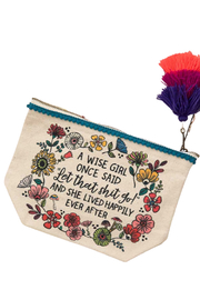 Natural Life A Wise Girl Once Said Pouch - Front cropped