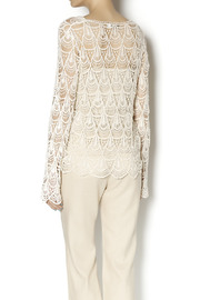 Moon River Crochet Tie Front Tunic - Back cropped