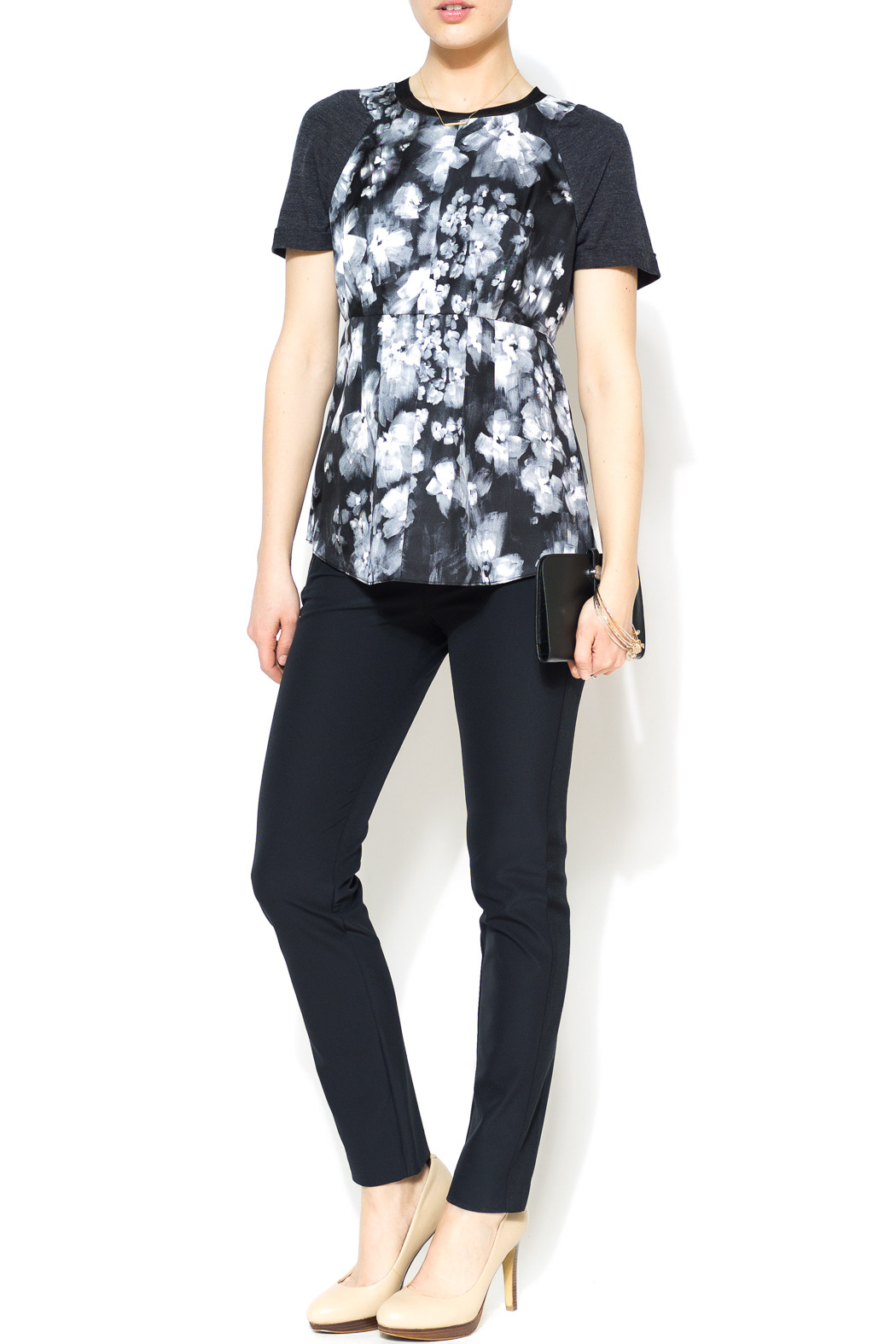 Rebecca Taylor Ghost Flower Top - Front Full Image
