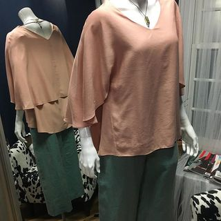 Shoptiques Product: Nude Cape Top