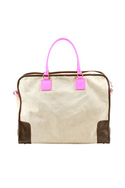Alex-Max Large Suede Neon Bag - Front cropped