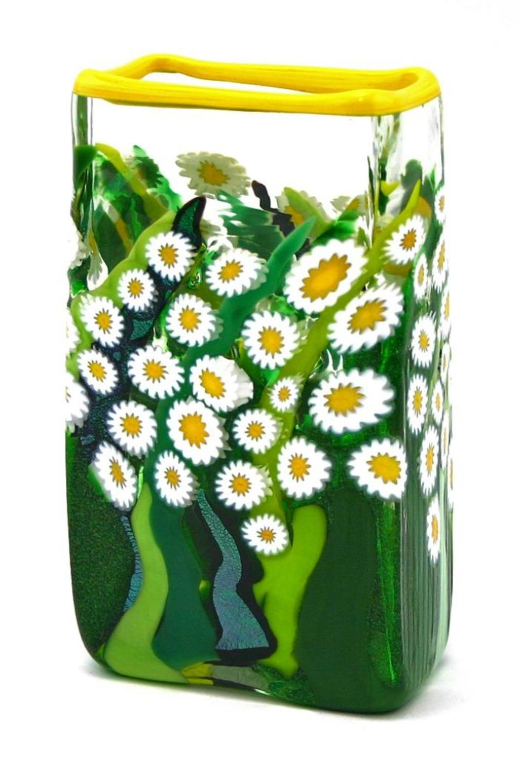 Glass Daisy Vase - Front Cropped Image