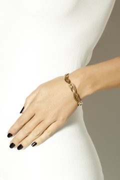 Shoptiques Product: Woven In Gold Bracelet