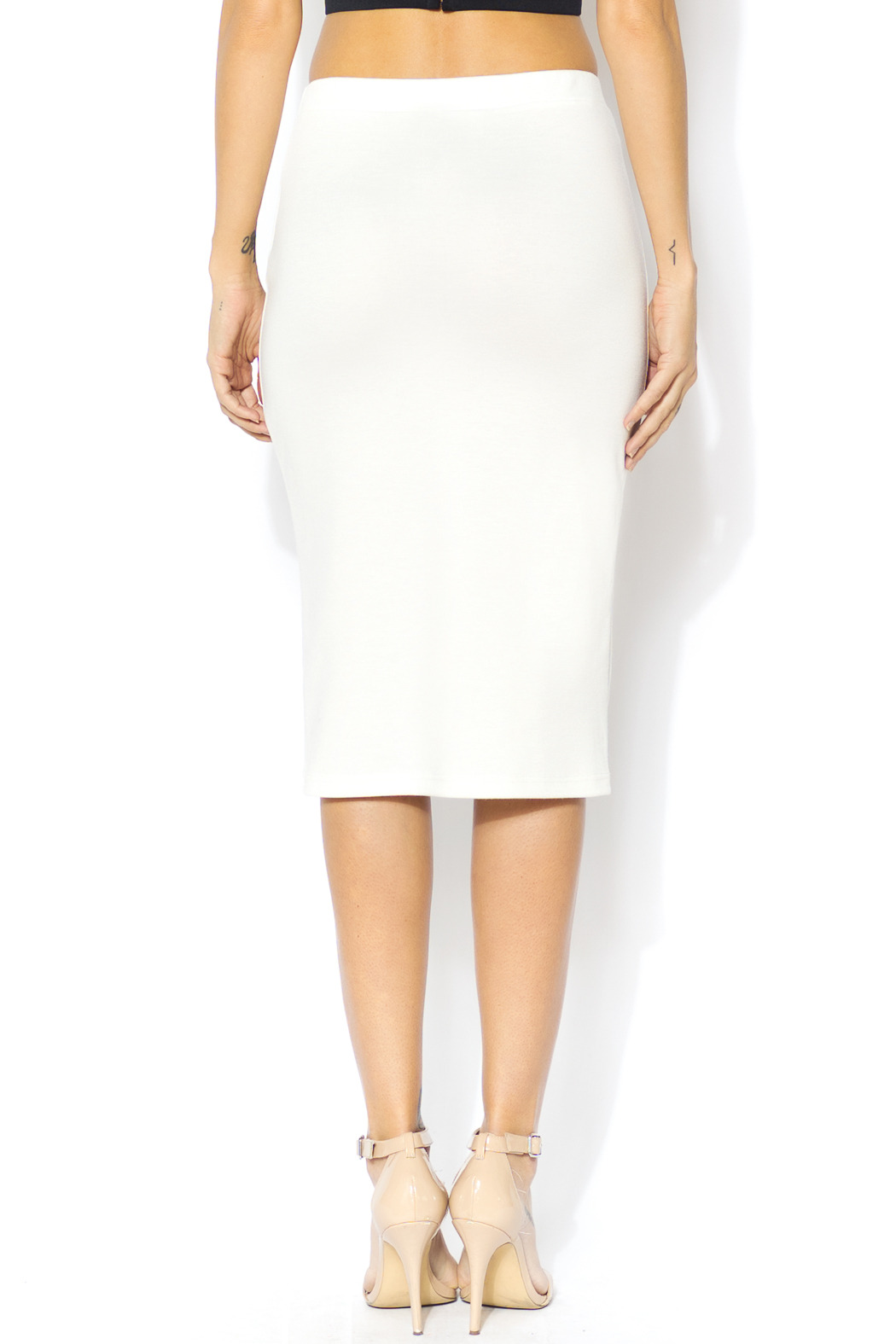 Moa White Pencil Skirt from Massachusetts by Black Box Boutique ...