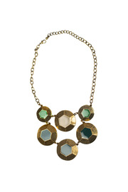 Shoptiques Product: Burnished Hexagon Necklace