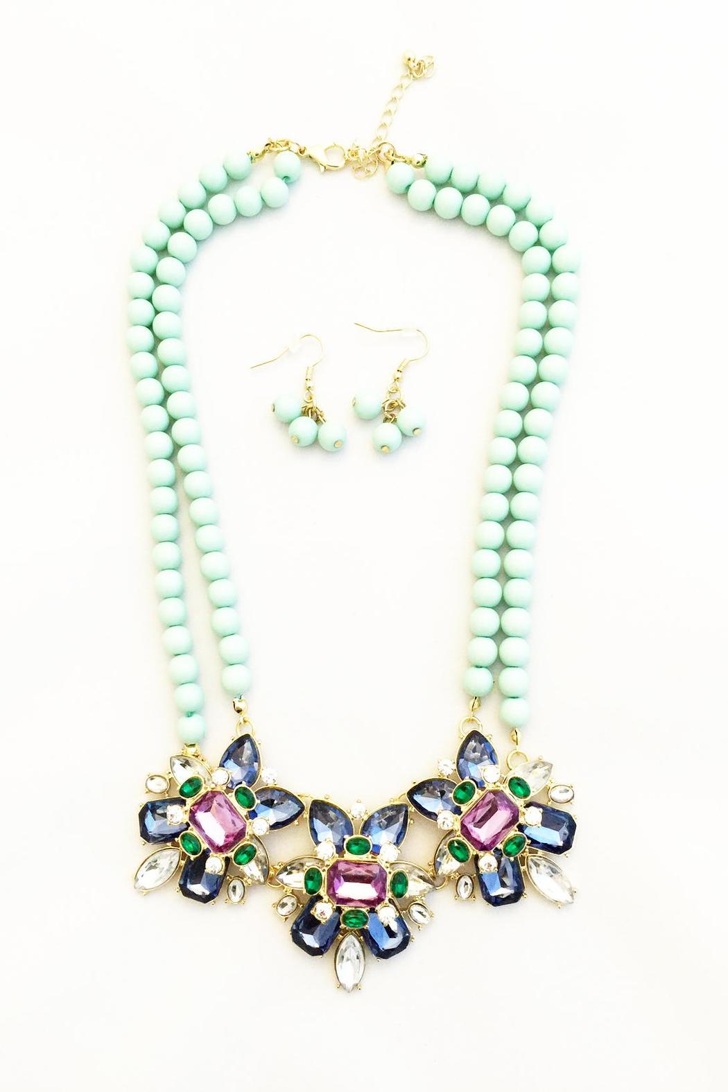 Bling Bling Sisters Mint Pearl Necklace - Main Image
