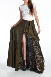 MHGS Olive Maxi Skirt - Front cropped