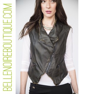 Shoptiques Product: Brown Leather Vest