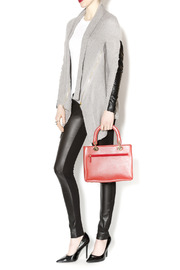 Passports Red Pebble-Leather Bag - Back cropped