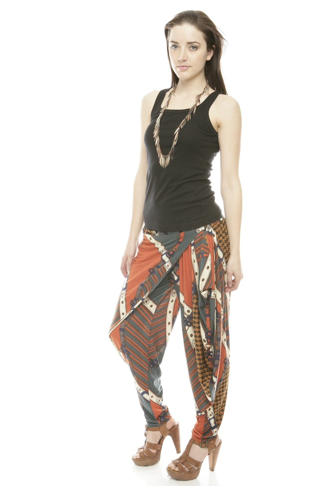 Maxime Paris Tina Harem Pants - Side Cropped Image