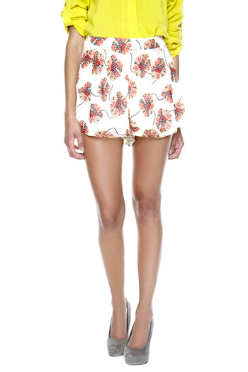 Otis & Maclain Floral High-Waisted Shorts - Main Image
