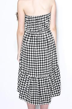 Shoptiques Product: Checkered Strapless Dress