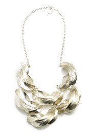 Zia Fulani Silver Statement Necklace - Product Mini Image