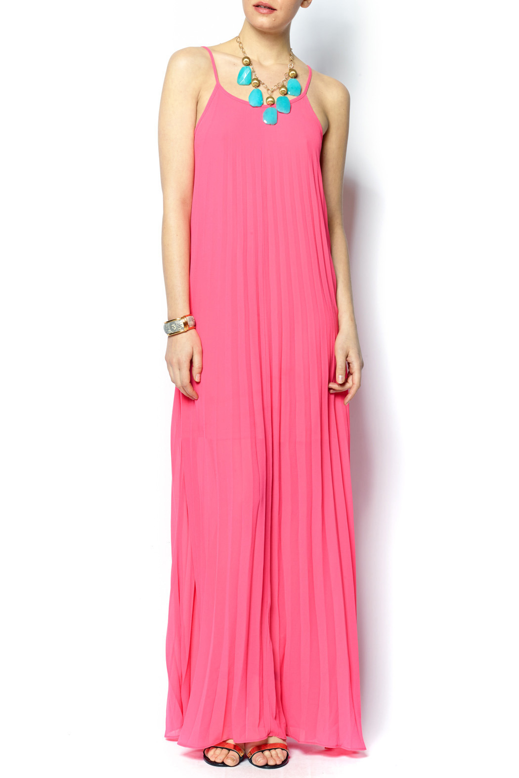 7a8c16bf60b Caren Forbes Accordion Pleated Maxi Dress from Connecticut — Shoptiques