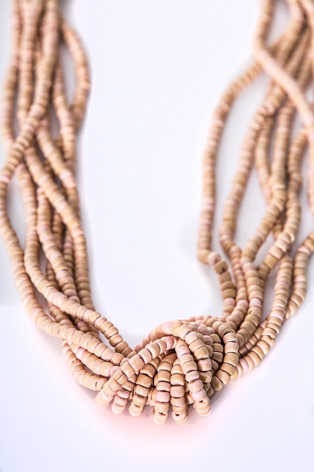 Green House Imports Peach Knot Necklace - Front Cropped Image