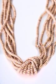Green House Imports Peach Knot Necklace - Front cropped