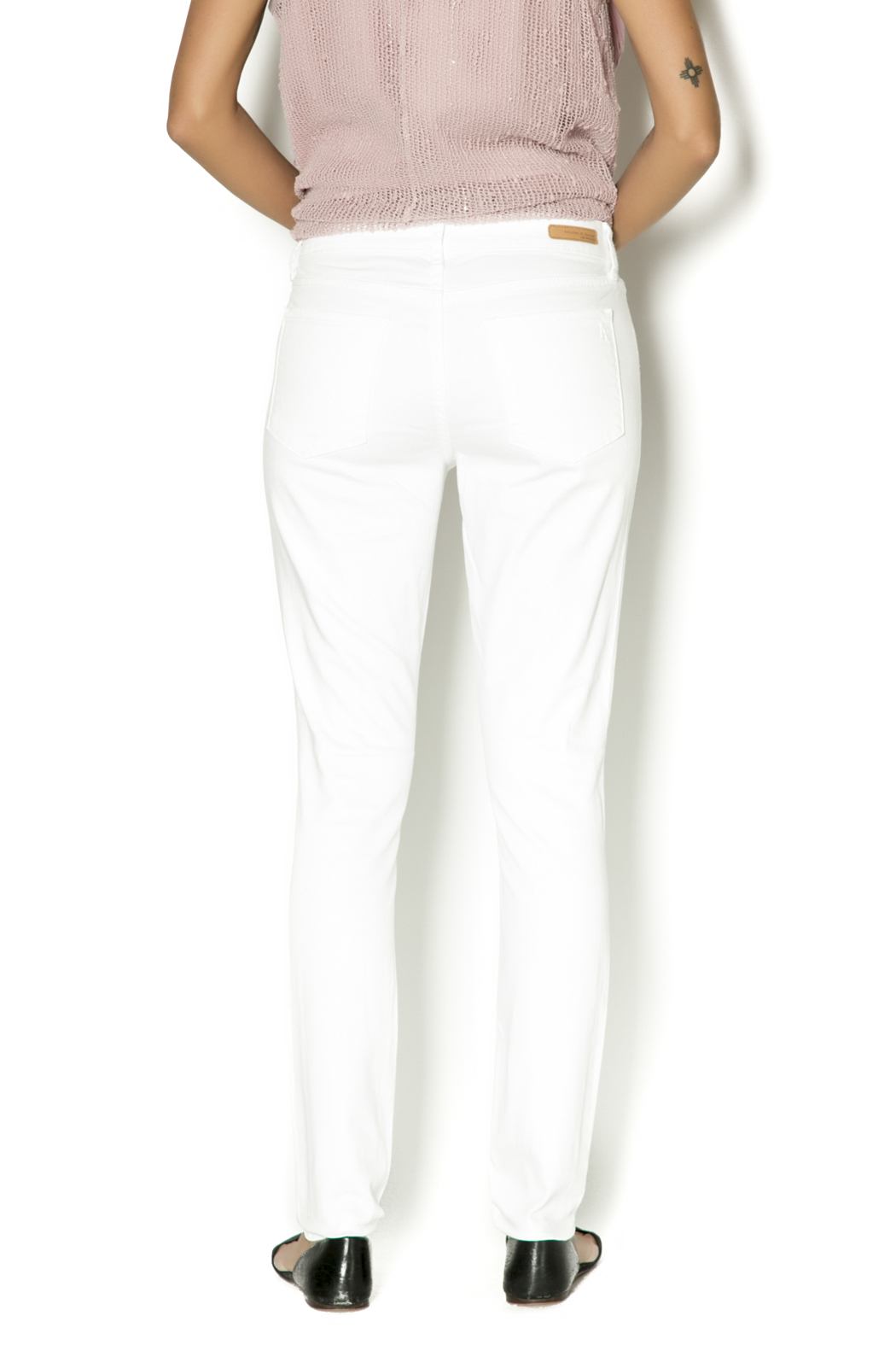 Articles of Society White Skinny Jeans - Back Cropped Image