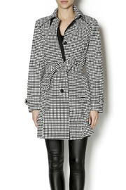 Tribal Checker Print Trench - Product Mini Image