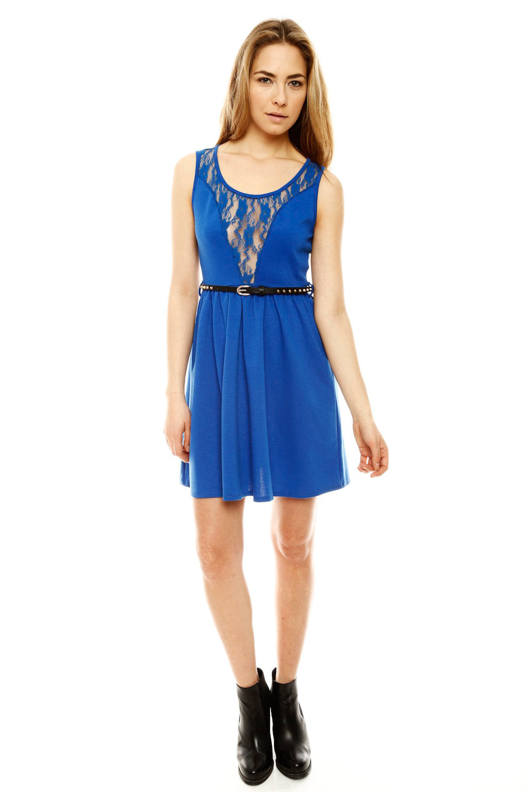 Ya Los Angeles Lacy Skater Dress - Front Full Image