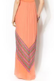 Missy Robertson Coral Chevron Detail Maxi - Other