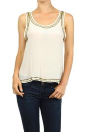 Freeway Silk Beaded Tank - Front cropped